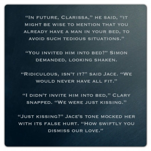 Clary and Simon (Mortal Instruments) Quote: Mortal Instruments Quotes ...