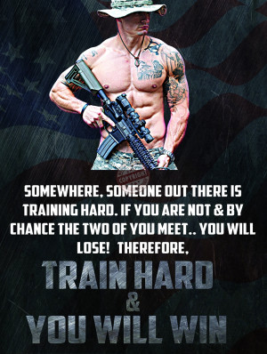 "Police Motivation Poster ""TRAIN HARD & YOU WILL WIN"""