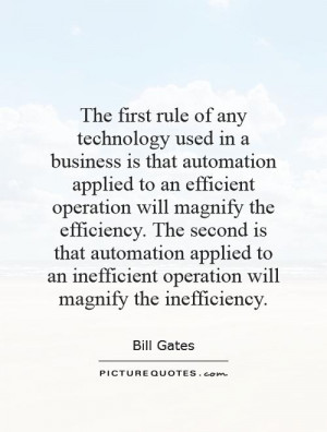 Business Efficiency Quotes and Sayings