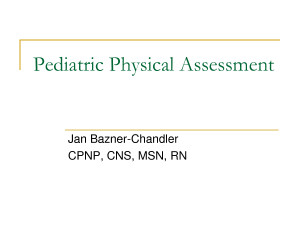 Pediatric Physical Therapy Evaluation Form