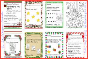 The Birth of Jesus Christ – 25 Days of Christmas Printable for Pre-K
