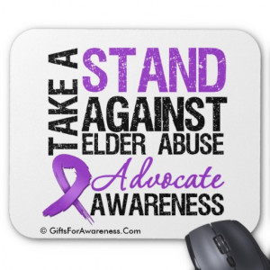 Take A Stand Against Elder Abuse Mousepad