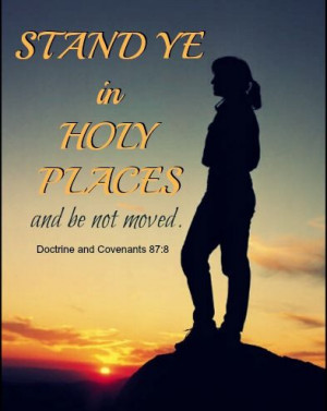Mormon Young Women - standing in holy places
