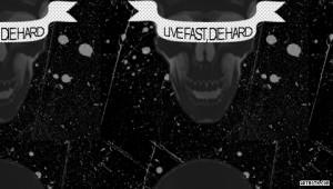 Skulls Live Fast Die Hard PSP Wallpaper