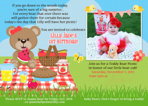 Lilly's 1st Birthday Party - Teddy Bear Picnic