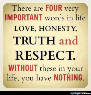 Four very important words in life