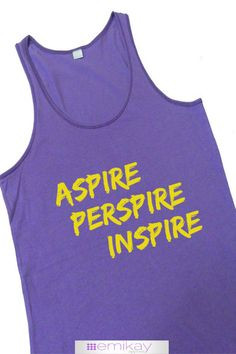 ... Tank Aspire Perspire Inspire Pink. Workout tank top. Exercise shirt