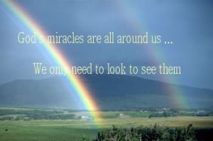 God's miracles quote