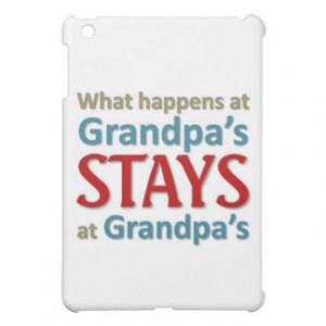 What happens at Grandpa's iPad Mini Cases