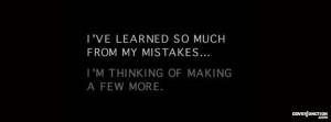 Learn From Your Mistakes Quote Facebook Cover
