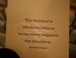 Quote: Ralph Waldo Emerson (Stegelmann)