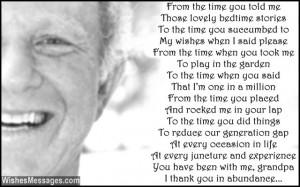 happy birthday in heaven grandpa poems
