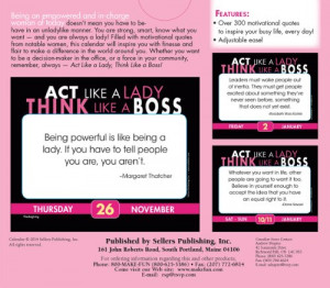 Act Like a Lady, Think Like a Boss; Motivational Quotes for Today's ...