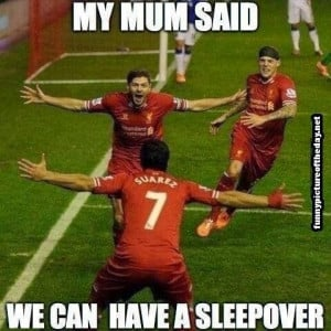 My Mum Said We Can Have A Sleepover Funny Soccer Football Mom Humor