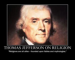 Thomas Jefferson on religion by fiskefyren