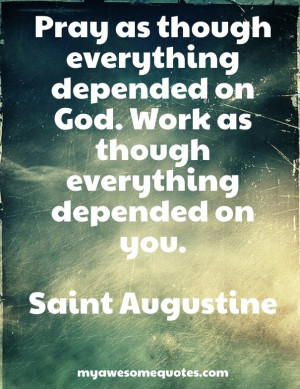 Depend on God Quotes Depended on God
