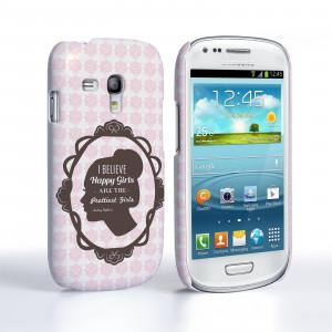 ... Samsung Galaxy S3 Mini Audrey Hepburn 'Happy Girls' Quote Case