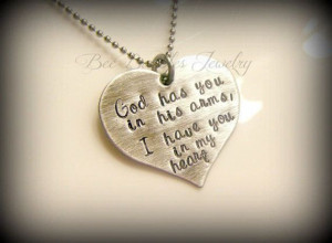 Hand Stamped Heart - Grieving - Miscarriage - Loss of pet - In Gods ...