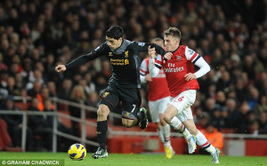 Divide: Suarez is desperate to force a move to Arsenal, as he speeds ...