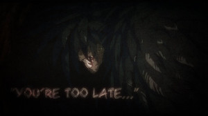 ... quote from the movie.I like how it turned out, definitely dark and