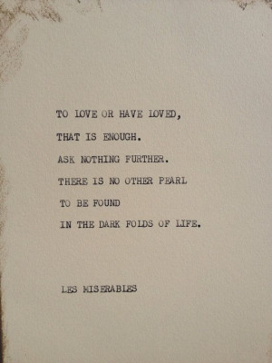 THE LES MISERABLES Typewriter quote on 5x7 by WritersWire on Etsy, $6 ...