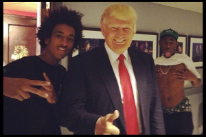... Tyler, the Creator and Taco Punked Donald Trump Backstage of 'Fallon