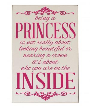 ... & Pink 'Being a Princess' Wall Plaque by Vinyl Crafts #zulilyfinds