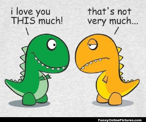 cute little meme picture of dinosaurs expressing their love for one ...