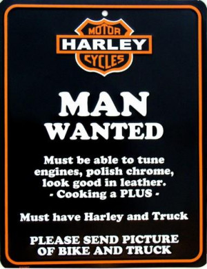 Details about HARLEY MAN WANTED STREET SIGN