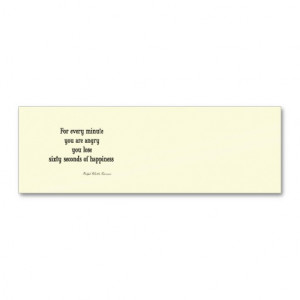 Vintage Emerson Inspirational Happiness Quote Business Cards