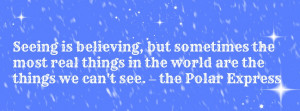 little Christmas Advent Calendar Quote from the Polar Express