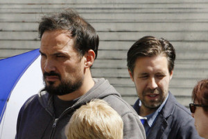 Paddy Considine Dakota Fanning on the Set of
