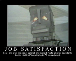 Marvin The Paranoid Android has the misfortune of being an intellect ...