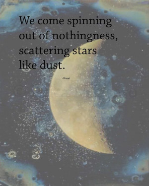 stars like dust quote rumi inspirational quotes amp poetry moon ...