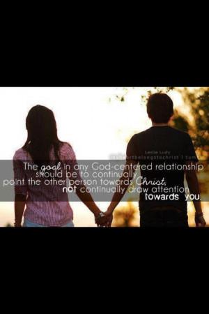 God centered relationships
