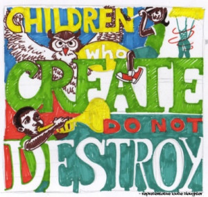 Children who create don't destroy - Rep Louise Slaughter (D-NY)