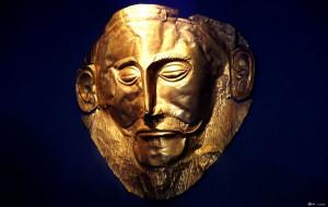 Maschera di Agamennone, ritrovata dall'archeologo Heinrich Schliemann ...