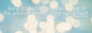 to and Heard {Life Quotes Facebook Timeline Cover Picture, Life Quotes ...