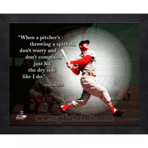 Stan Musial St. Louis Cardinals Pro Quotes Framed 16x20 Photo