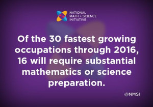 ... it's critical to hook students on math and science at an early age