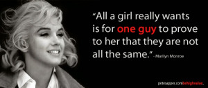 Marilyn's Wisdom: What a girl really wants.