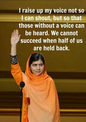 ... And Inspiring Quotes From Nobel Peace Prize Winner Malala Yousafzai