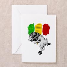 Rasta Colors Greeting Cards (Pk of 10) for