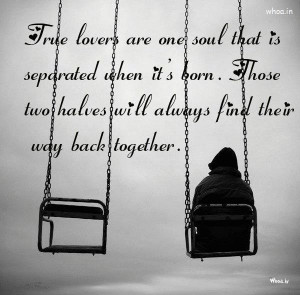 true lovers are one soul that is separated quote, HD Wallpaper Free ...