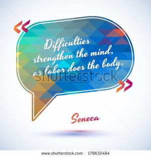 Typographical Background Illustration with quote of Seneca. Clever ...