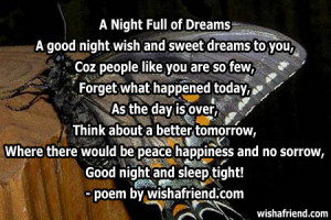 sweet dreams poems