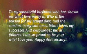 Romantic anniversary messages for husband