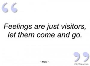 feelings are just visitors mooji