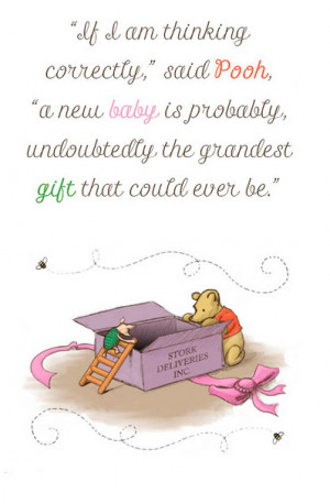 Winnie Pooh New Baby Quotes