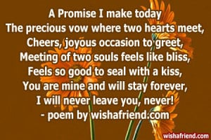 Promise I make todayThe